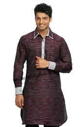 Cotton Linen Pathani Kurta RK4097