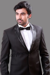 Notch Lapel Black Wedding Tuxedo BL3025