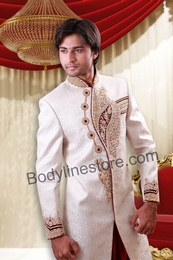 Off White Sherwani BL2049
