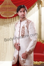 Off White Sherwani BL2054