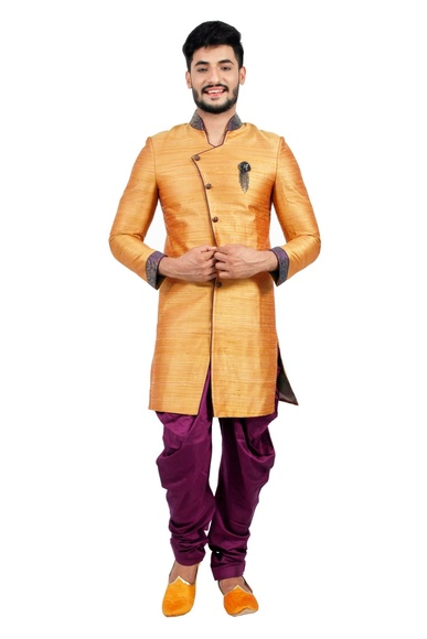 Burnt Orange  Indowestern Sherwani  RK1116