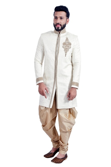 Off White  Indowestern Sherwani  RK1096