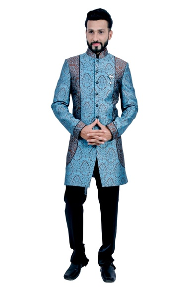 Dark Blue &  Coffee  Indowestern Sherwani  RK1085