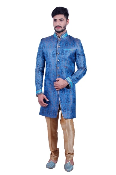 Electric Blue  Indowestern Sherwani  RK1089