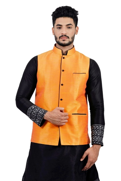 Tangerine Orange  Nehru Jacket   RK4131