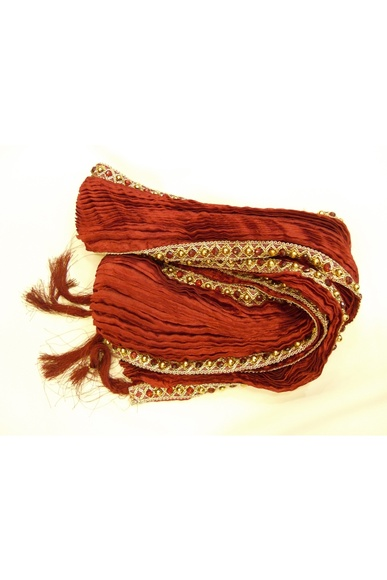 Fancy Border Maroon Khesh BL0094