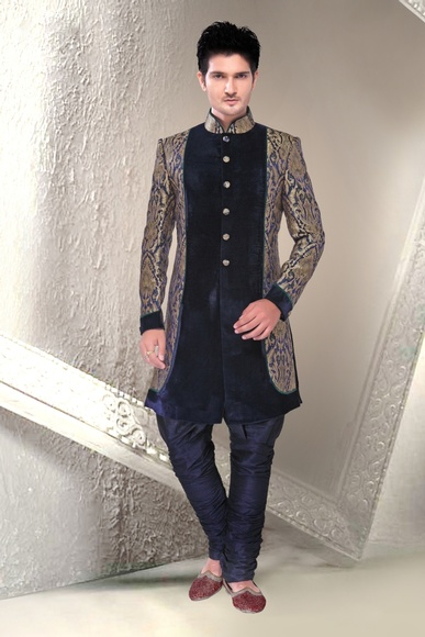 Blue Color Gorgeous Indo Western Sherwani