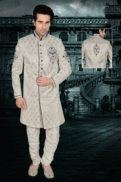 Gorgeous Beige Color Indo Western Sherwani