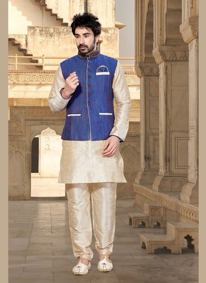 Ravishing Cream Color Indo Western Sherwani