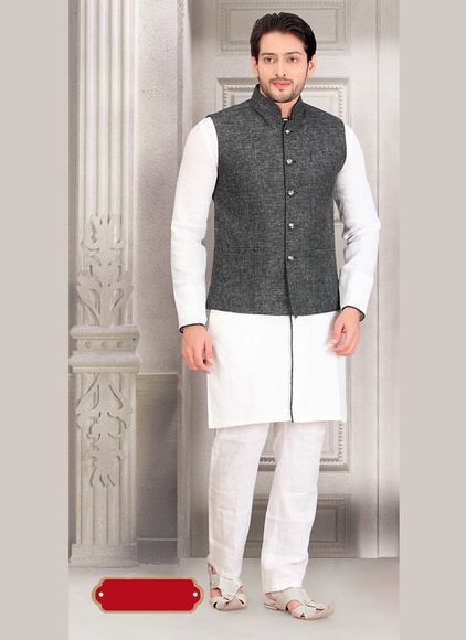 White Color Amazing Indo Western Sherwani