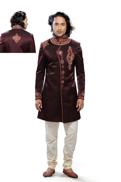 Brown Color Fabulous & Fancy Indo Western Sherwani