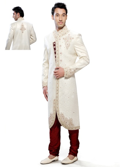Cream Color Refreshing Indo Western Sherwani