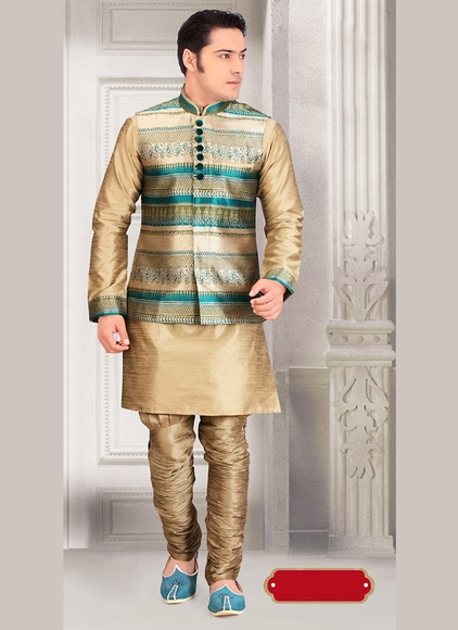 Voguish Brown Color Indo Western Sherwani