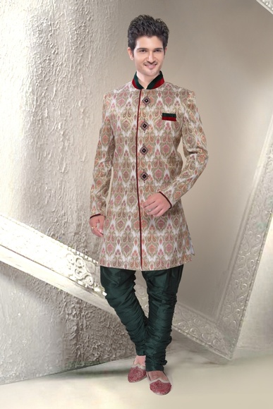 Unique Collection White Color Indo Western Sherwani