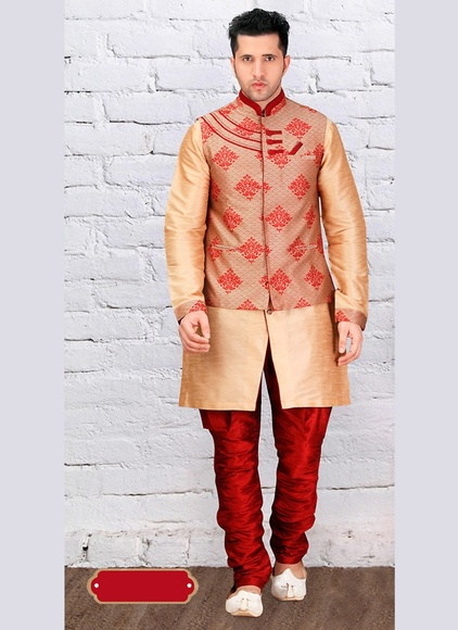 Urban Ethnic Brown Color Indo Western Sherwani