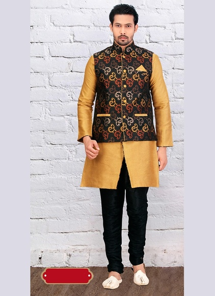 Modish Brown Color Indo Western Sherwani