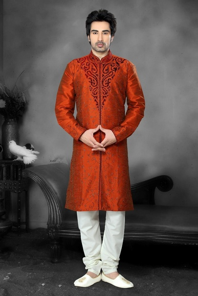 Stylish Orange Color Kurta Payjama