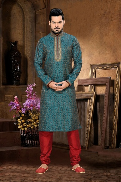 Blue Color alluring Kurta Payjama