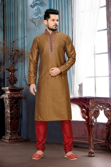 Extra Vagant Brown Color Kurta Payjama