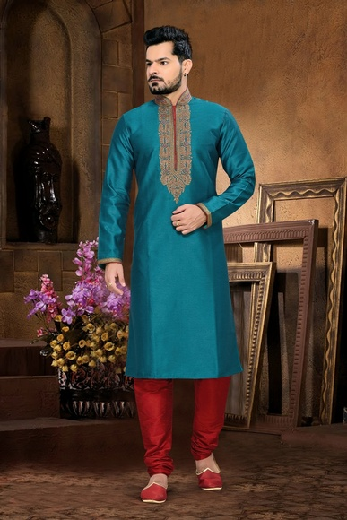 Blue Color Delightful Kurta Payjama