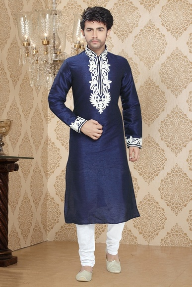 Blue Color Enviable Ethnic Kurta Payjama