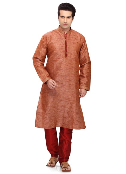 Brown Color Readymade Kurta Payjama