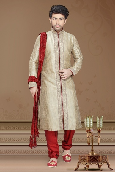 Superlative Beige Color Kurta Payjama