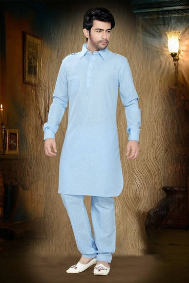 Blue Color Tentalizing Kurta Payjama