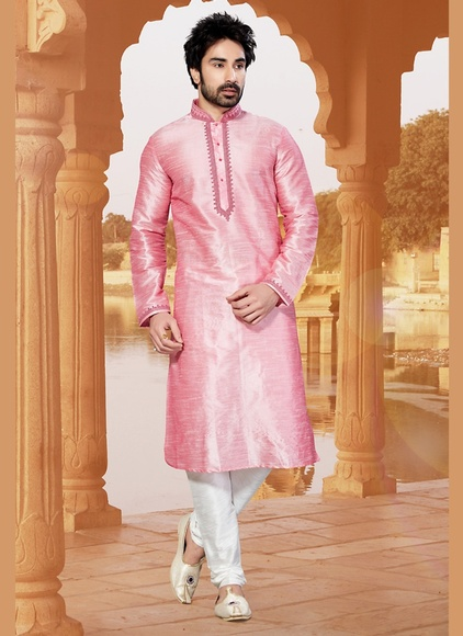 Pink Color Charming Kurta Payjama