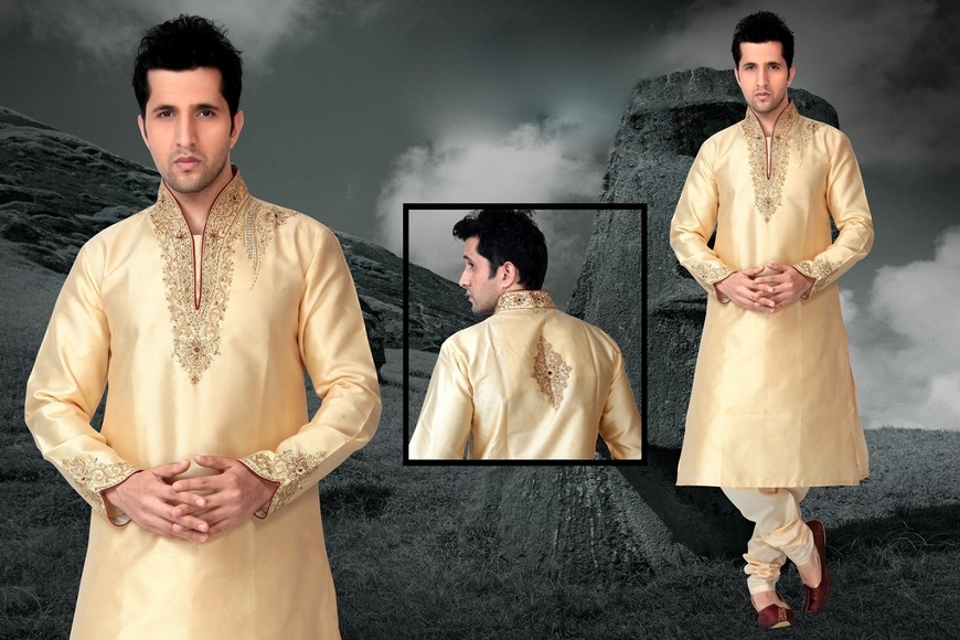 Gorgeous Cream Color Kurta Payjama