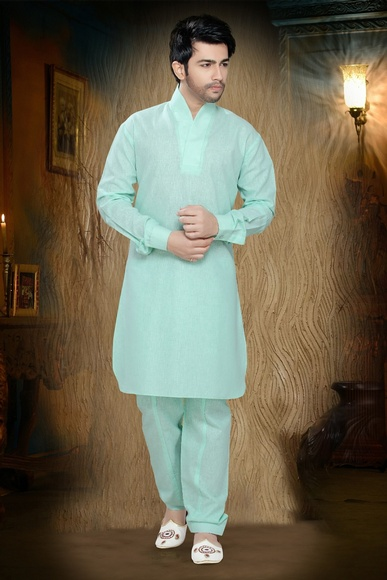 Green Color Impressive Kurta Payjama