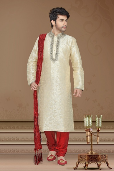 Cream Color Grandeur Kurta Payjama
