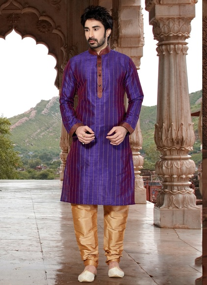 Purple Color Eloquent  Kurta Payjama