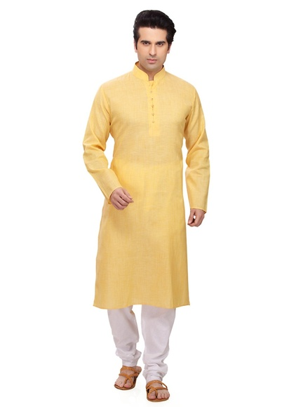 Yellow Color Readymade Kurta Payjama