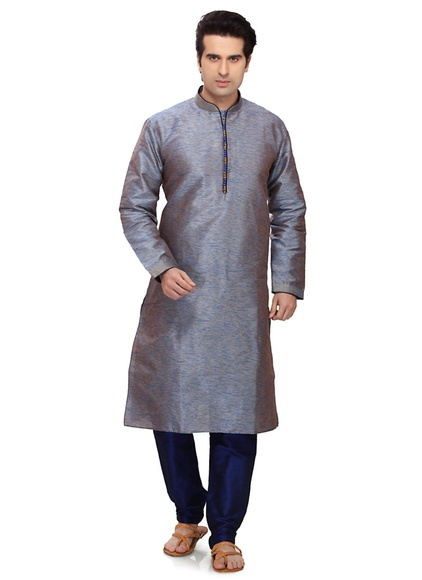 Eye Catching Grey Color Kurta Payjama