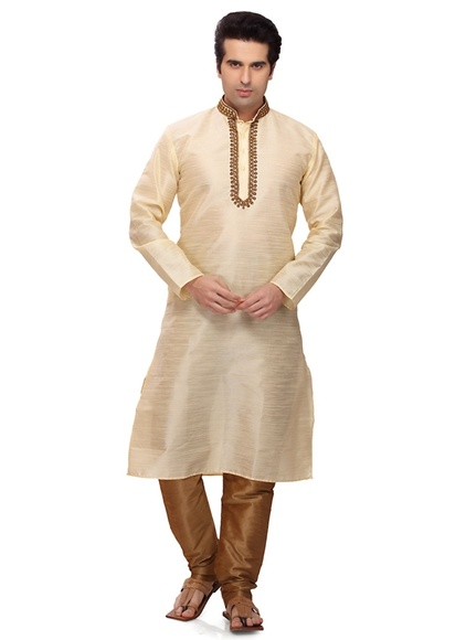 Eye catching Cream Kurta Payjama
