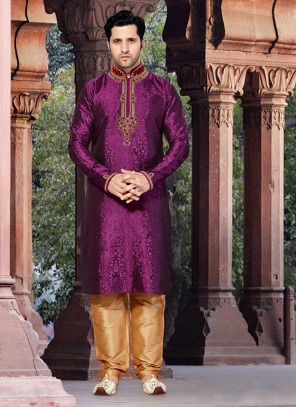 Purple Color Vibrant look  Kurta Payjama