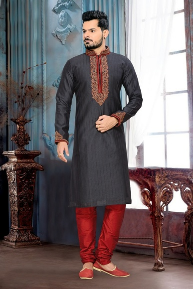 Ravishing Black Color Kurta Payjama