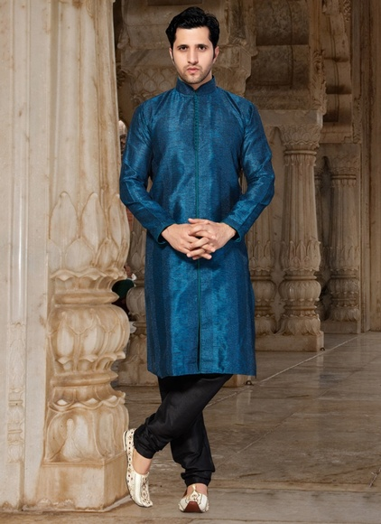 Grandeur Blue Royal Kurta Payjama