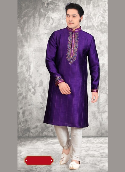 Purple Color Stylish Kurta Payjama