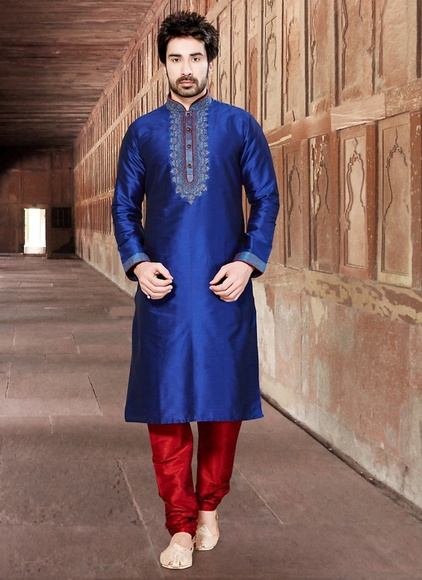 Trendy Blue Color Kurta Payjama