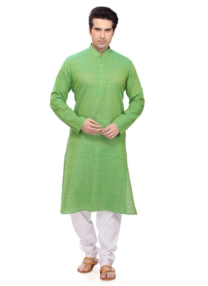 Amazing Green Color Ethnic Kurta Payjama