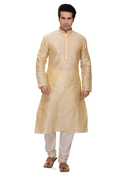 Cream Color Extra Vagent Kurta Payjama