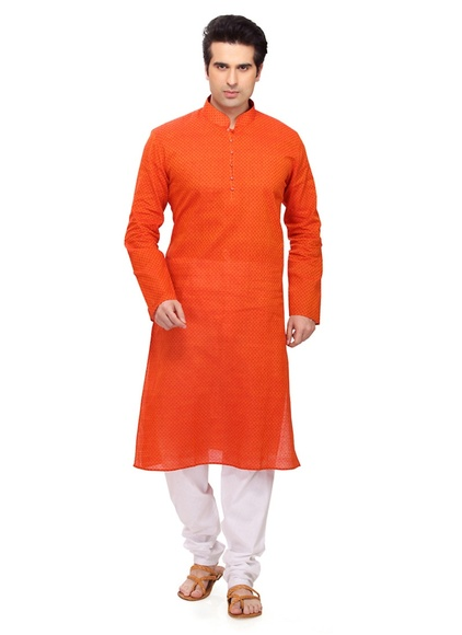 Orange Resplendent Kurta Payjama