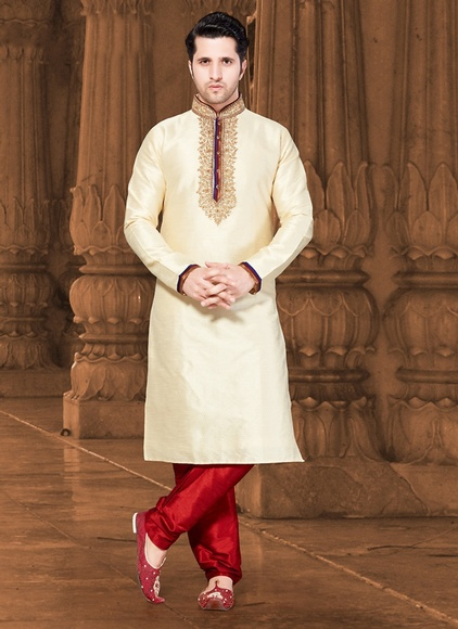 Fabulous Cream Color Kurta Payjama