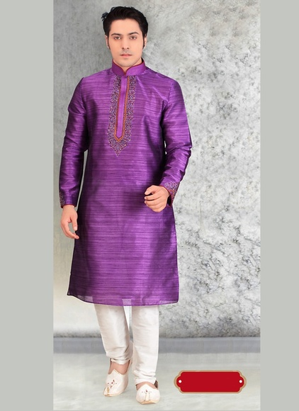 Voguish Purple Kurta Payjama