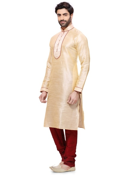 Beige Color Distinctive Kurta Payjama