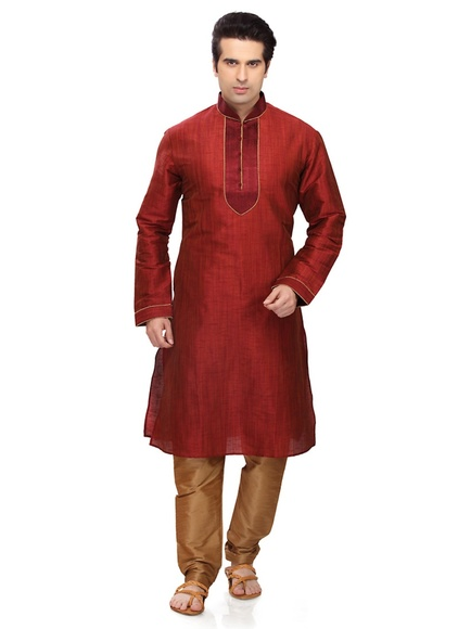 Sun Shine Red Kurta Payjama