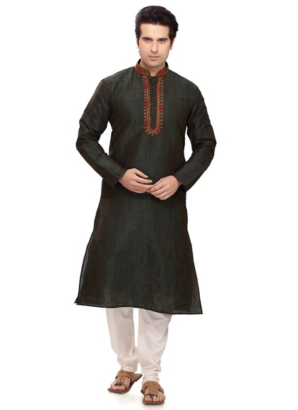 Gorgeous Green Color Kurta Payjama