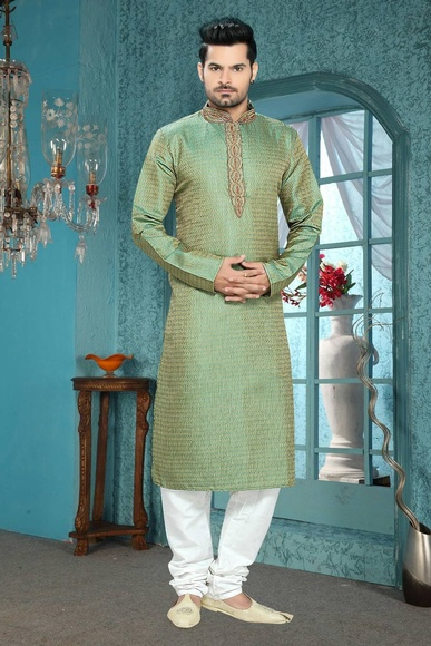 Green Color Live in Style  Kurta Payjama